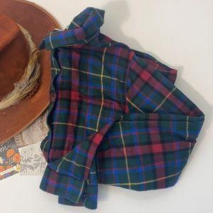 L.L.Bean Plaid Flannel Button Down Shirt